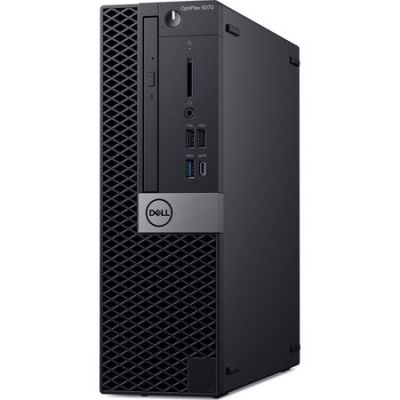 Desktop PC Dell OptiPlex SFF cu procesor Intel® Core™ i7-9700 pana la 4.70 GHz, Coffee Lake, 16GB, 256GB SSD, Intel® UHD Graphics 630, Microsoft Windows 10 Pro, Black