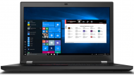 "Laptop Lenovo ThinkPad P17 Gen 1, Procesor Intel Xeon W-10885M up to 5.3GHz, 17.3"" UHD (3840x2160) IPS 500nits anti-glare, ram 64GB (2x32GB) 2933MHz DDR4, 2TB M.2 PCIe NVMe, NVIDIA® Quadro® RTX 5000 16GB GDDR6 Max-Q, culoare Black, Windows 10 Pro"